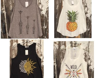 Cute Tanks - Four Designs - One Great Price