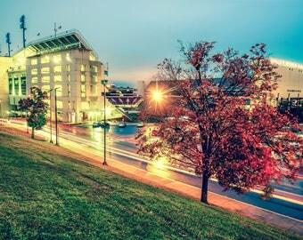 Arkansas Razorbacks, Razorback Stadium, University of Arkansas, Fayetteville Arkansas, SEC Football, Autumn, Gregory Ballos Fine Art