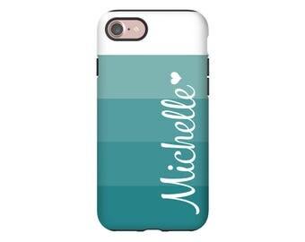 iPhone 8 case/8 Plus case, ombre' stripes iPhone X case, iPhone 7/7 Plus case personalized phone cover, iPhone 6/6s/6 Plus/6s Plus cases