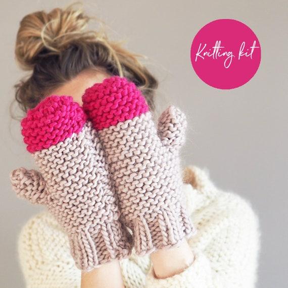 kit tricot gants