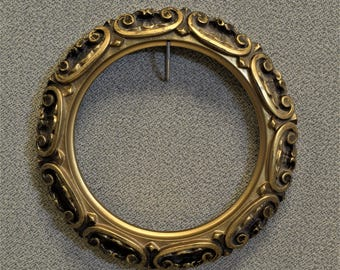 Round Ornate Picture Frame