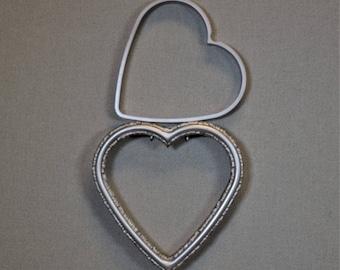 Heart Shaped Shadowbox Frame Silver Ornate