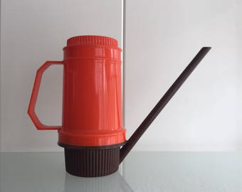 Retro gieter oranje bruin West Germany vintage orange brown watering can