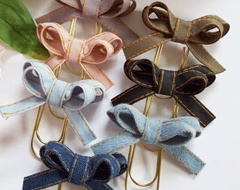 Olivia bow paper clips