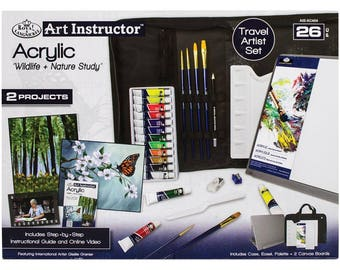 Learn to Paint - Art Instructor Oil Paint Kit - INCLUDES EASEL! - Great Gift