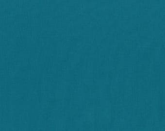 1 yard Michael Miller Lagoon Couture Solid cotton fabric, medium teal green solid fabric