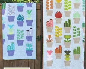 Greenhouse - EH 037 Patterns - Elizabeth Hartman - Cactus quilt pattern