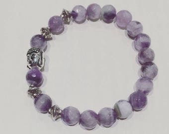 Amethyst Buddha Healing Bracelet, mindfulness, calming, anxiety.