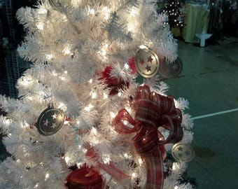 Tristar Christmas Ornament - Galvanized Steel