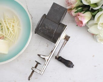 Vintage French Gruyere/Cheese Grater - Metal Grater - Kitchen Decor - Shabby Chic