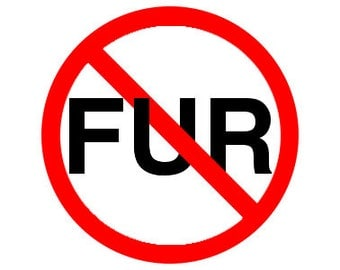 "Anti-Fur 1.25"" Pinback Button - Vegan, Vegetarian, Animal Rights, Animal Liberation, Veganism, Activism"