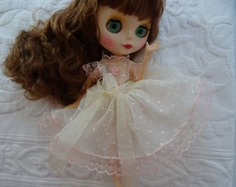little dress and panties for doll BLYTHE 30 cm embroidered tulle