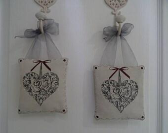 heart pattern door cushion