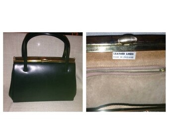 On Sale Gorgeous Vintage Black Purse with Leather Interior
