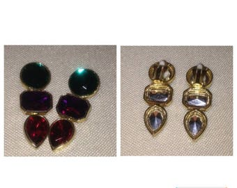 Anniversary Sale Vintage 80's Earrings