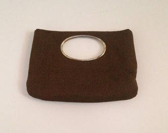 Anniversary Sale Vintage Herringbone clutch Purse