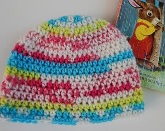 Faux Isle Crochet Baby Hat / Size 12 mos. / READY TO SHIP / Gender Neutral / Item #FB01