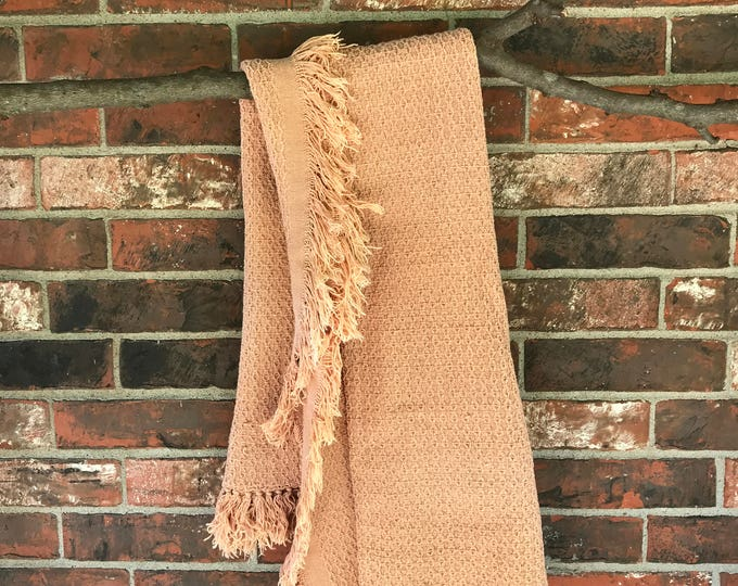 Peach Vintage Fringe Throw
