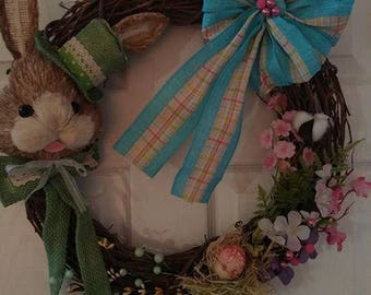 Easter / Spring Bunny grapevine wreath