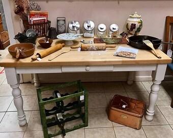 Butcher Block Farm Table