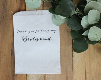 Thank you being my bridesmaid, thank you for being my flower girl, thank you for being my maid of honor, thank you bag, wedding bag