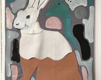 Moody Rabbit Wall Art