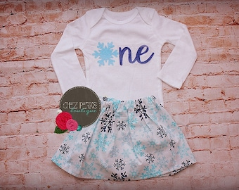 Winter Onederland Outfit Snowflake Birthday Outfit Winter First Birthday Outfit Frozen 1st Birthday Outfit Winter Wonderland Birthday