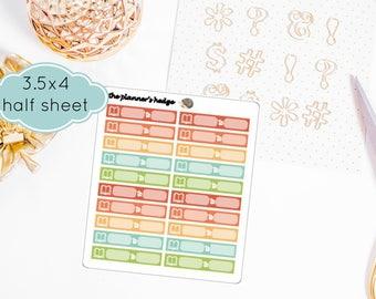Study Reminder Labels, Planner Stickers, Candyland