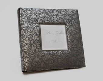 Personalized Black album, black album, black photo album, wedding, black pages, large wedding album, album black pages, large photo album