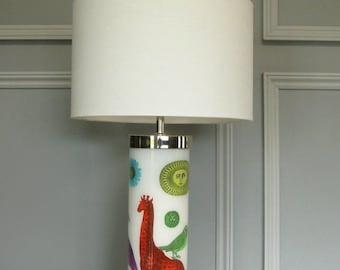 decoupage reverse-glass eglomise lamp