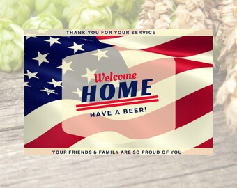 Custom Beer Label- Military Homecoming- Military Gift- Deployment