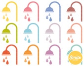 Shower Head Clipart Illustration for Commercial Use | 0549