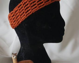Alpaca crochet headband