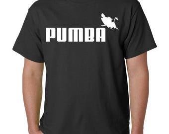 Pumba T-Shirt - Puma Logo / Lion King Disney Parody Funny pumbaa & timon simba