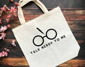 Nerdy Book Tote Bag- Book...