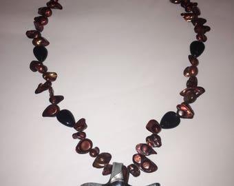 Glass starfish necklace
