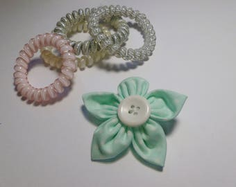 Pastel green hair clip, pastel hair accessories, pastel accessories, floral hair clip, flower hair clip, birthday gift, mothers day gift