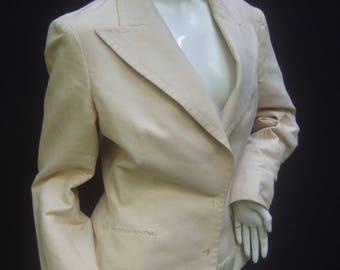 LANVIN Crisp Ivory Cotton Blazer