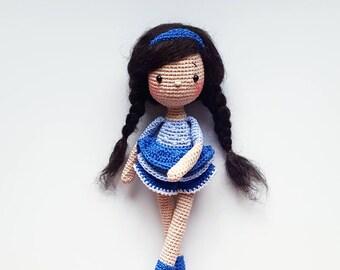 "Pattern amigurumi crochet doll ""Ingrid"" PDF (English/German)"