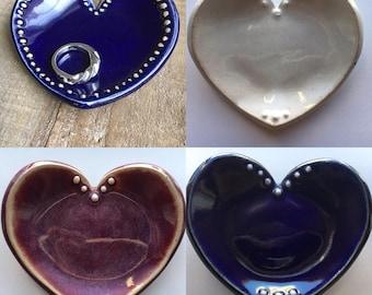 Heart Shape Engagement Ring Dish / Wedding Ring Dish / Treasure Dish