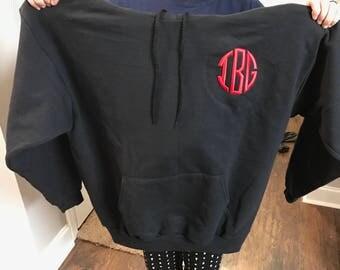 Custom hoodie Puff round initils