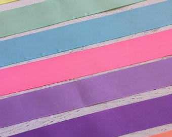 1.5 inch Pastel Solid Ribbon - Pastel Colored Solid Ribbon - Purple Ribbon - Pink Ribbon - Easter Ribbon