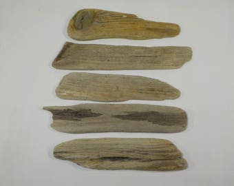 Small 5 Flat Driftwood 8.5-9.8''/21-25 cm Aged Old Looking Driftwood - Driftwood Signs - Driftwood Name Tags #21A