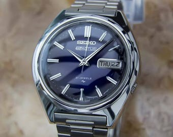 Seiko 5 Actus Mens Rare Automatic 21 Jewels Stainless Japanese Watch YY22