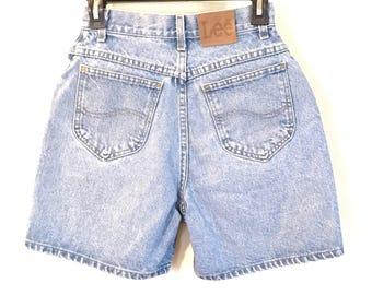 """LEE Vintage Women's High Waist Denim Mom Shorts Waist 24"""""""