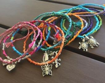 Simple String Friendship Adjustable Charm Bracelets