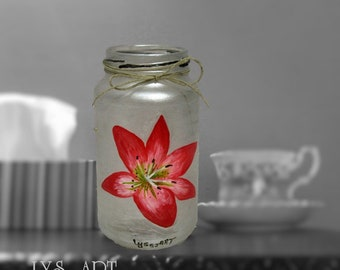 Lily Flower Vases Glass Silver