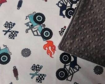 Minky Baby Blanket, Trucks Minky Blanket, Cars and Trucks Blanket, Minky Blanket, Soft Blanket, Newborn Baby Blanket