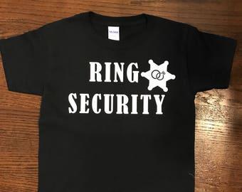 Ring Security Shirt, Ring Bearer Shirt, Wedding Rehearsal Shirt, Ring Bearer Gift, Wedding Shirt