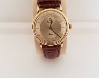 vicencE 14k gold watch made in  Italy very elegant